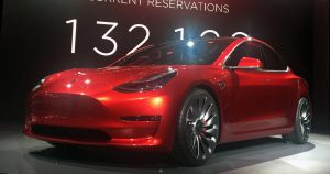 Tesla car model 3